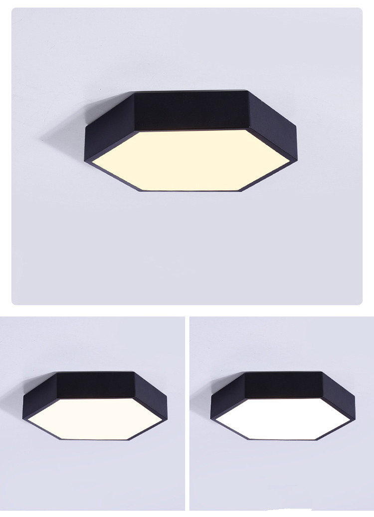 Ultrathin LED modern ceiling light hexagon Iron Acrylic indoor lamp kitchen bed room porch decoration light fixture AC110-265V