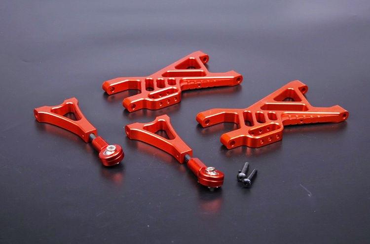 BAJA CNC Alloy Rear Suspension Arm Set for 1/5 HPI Rovan KM Baja 5B 5T 5SC RC Car Parts rc car desert rear wheel tire 2pcs set for baja 5t 5sc