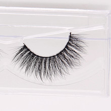 Thick False Eyelashes 3D Mink Fur Fake Eyelashes individual silk eyelashes Dramatic Looking thick real fur lashes 1pairs