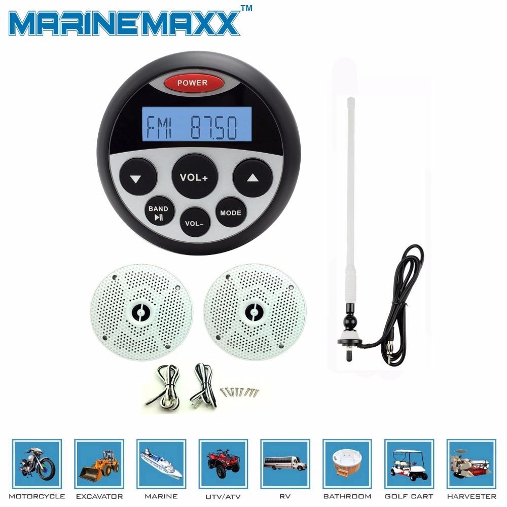 Waterproof Marine Bluetooth Radio Stereo SPA UTV ATV Sound System For  Tractor + 4u0027u0027marine Speakers Waterproof Speaker+antenna In Car MP3 Players  From ...