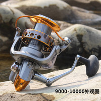 New Europe Fishing Gear CDMH2 1000 10000 Smooth Spinning Reel Fishing Reels 13 BB Carp Fish Reel Bait Runner Fishing Wheel