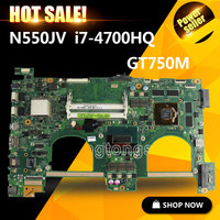 FOR ASUS Q550JV N550JA N550JV Laptop Motherboard I7 4700HQ SR15E CPU N550JV MAIN BOARD REV 2