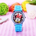 2016fashion minnie mouse girls Ladies women crystal Watch kids children cartoon silicone sport watches 1pcs/lot relogio feminino