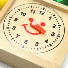 Puzzle Wooden Montessori Toys Digital Abacus Alarm Clock Educational Toys For Children Toys SG42