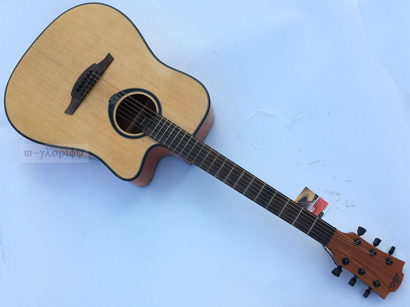 good quality la model acoustic guitar with eq with tuner with case free ship franklin