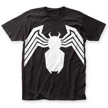 Hot Sale Fashion Official Marvel The Amazing Spider-Man Venom Suit Logo Legs T-shirt S-3XL top High Quality Casual Clothing