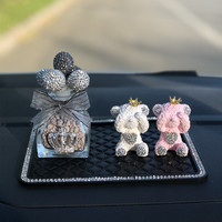 car Gypsum cute sweet bear and plant stylish interior accessories car air freshener perfumes set feminino
