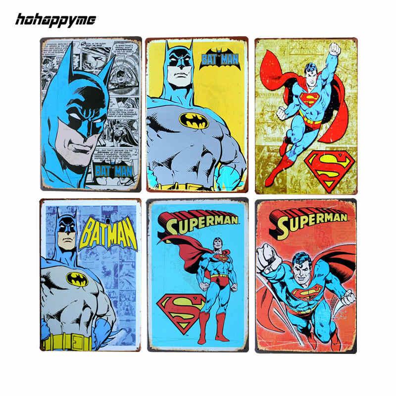HOMEM ARANHA/BAT Homem Quadrinhos da Marvel Amazing Fantasy Art Print Poster Vintage Tin Sinal Placa de Parede 20*30 CM