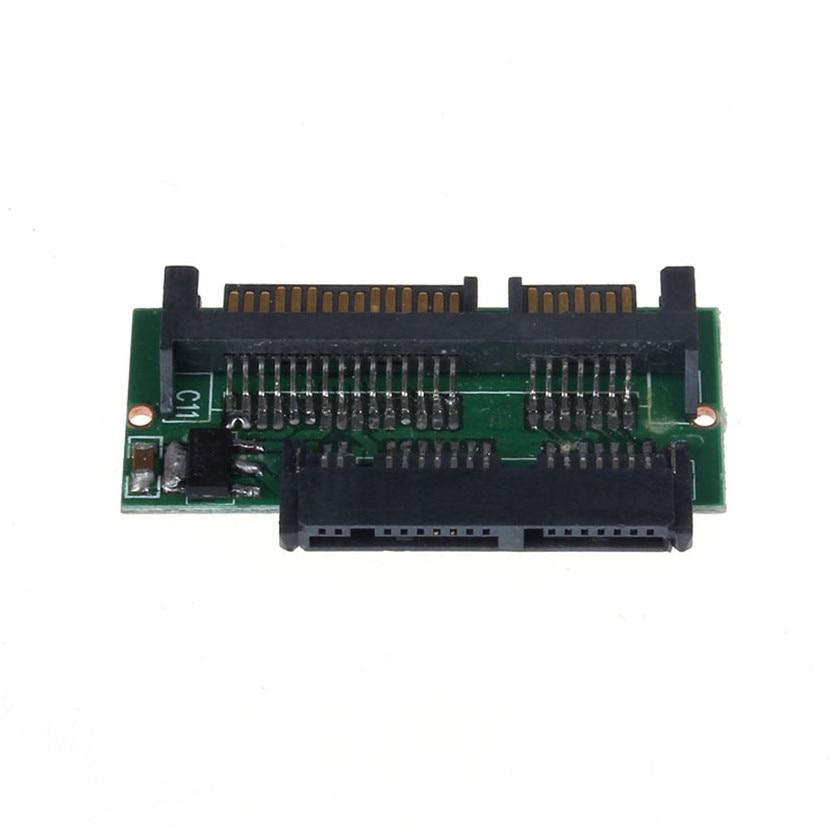 1.8 Inch Micro SATA HDD SSD 3.3V to 2.5 Inch 22PIN SATA 5V Adapter Jun26#2 корпус для hdd orico 9528u3 2 3 5 ii iii hdd hd 20 usb3 0 5