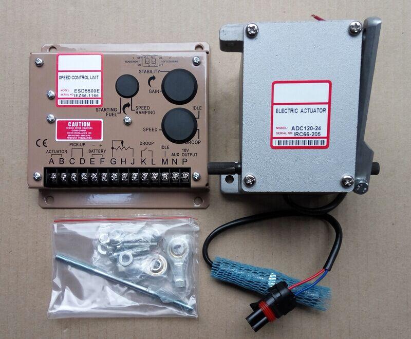 Actionneur ADC120-24V ADC120-12V Diesel générateur Gouverneur Kit 1 PCS ADC120 (12 V OU 24 V) + 1 PCS ESD5500E + 1 PCS 3034572