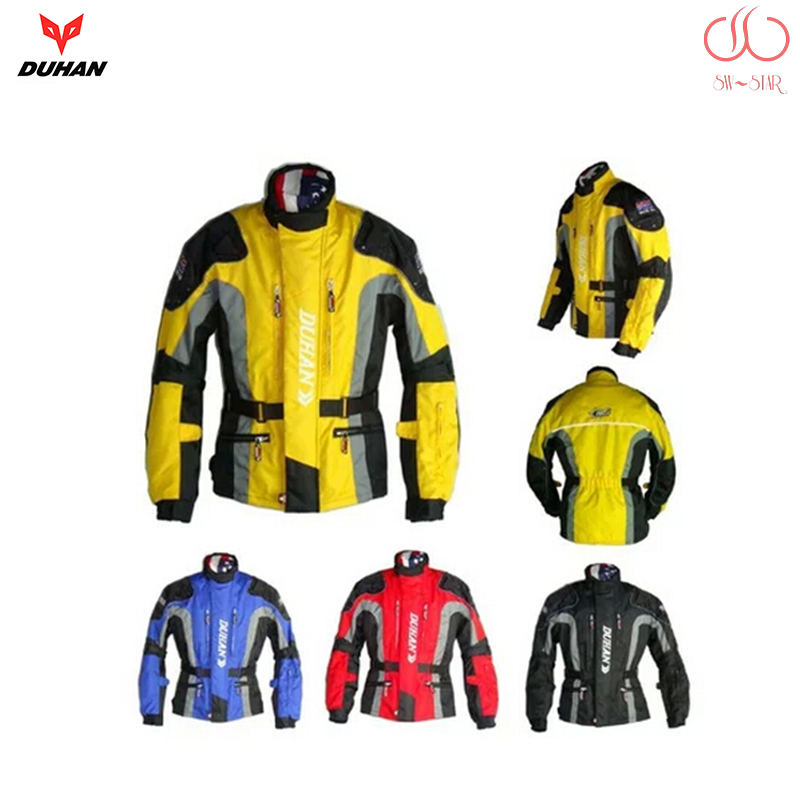 DUHAN motorcycle jacket motorbike long road travel racing jacket with removable Cotton Lining rally team clothing