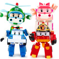 4 Style 15cm Plastic  Cartoon Toys Super Wings Deformation Airplane Robot Transformation Action Figures Toys for Children Gift