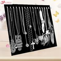 Black Velvet Necklace Plate Jewelry Display Pendant Chain Shelf Stand Holder Earrings Accessories Organizer Rack Case