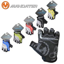 Велосипедные перчатки с полупальцами 4 цвета размеры от s до