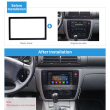 Harfey Auto Radio GPS Fascia 2Din Dashboard Voor VW Polo Passat b6 Golf 5 t5 Sharan 2005 AutoStereo Montage Frame kit Panel GEEN KLOOF(China)