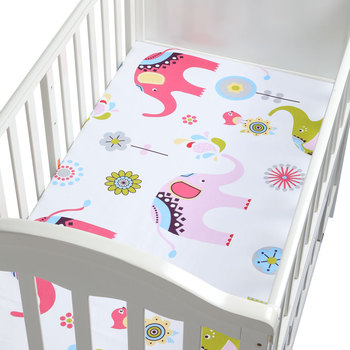 100% Cotton Lovely Pattern Newborn Bebe Bed Crib Sheet Mattress  1