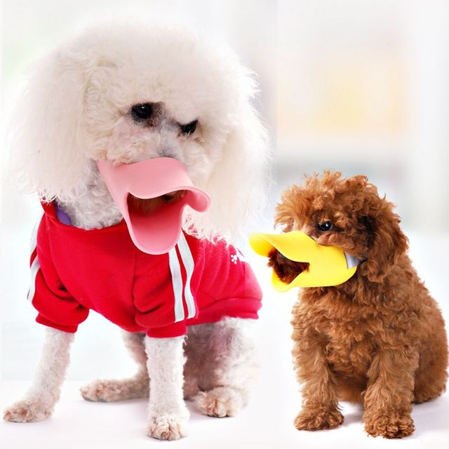 Dog Muzzle Pet Protection Dog Mouth Sleeve Duckbill Mask Design Soft Silicone Anti Bite Bark 1Pcs Dog Accessories