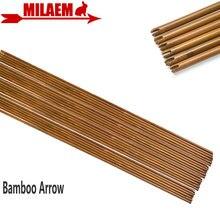 6/12 Uds tiro con arco bambú flecha eje 83cm DIY Flecha de bambú caza tiro compuesto arco recurvo flecha objetivo accesorios de práctica