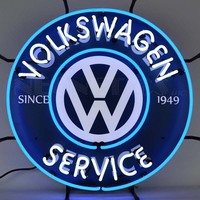 Neon Signs Volkswagen Auto Car Neon Bulb Sign Service Handcraft Garage Sign With Board Glass Tube