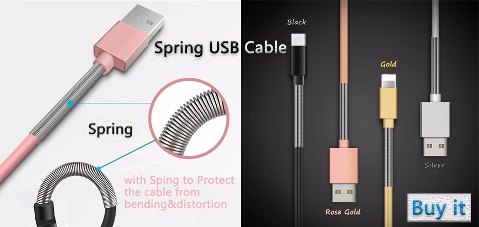 Spring USB Cable