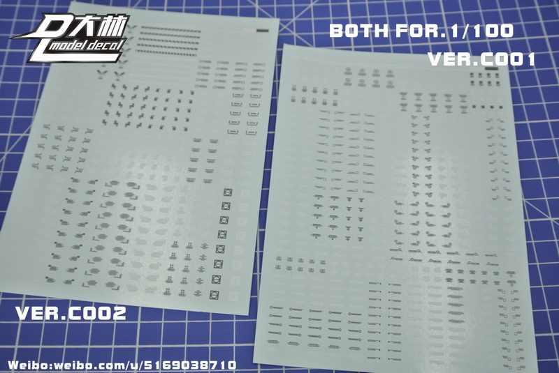 Dl genérico gundam modelo decalque adesivo ver. c001 + 002 + 011 geral sistema de aviso e detalhes brinquedos modelo ferramentas frete grátis