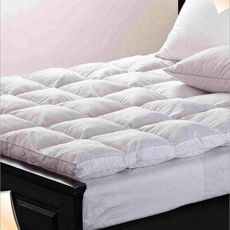 Chpermore Thicken Foldable 100% Goose feather Mattress Toppers Single double Tatami Family Bedspreads King Queen Twin Full Size