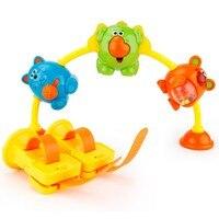漫画の動物ラインボーカルおもちゃ車の安全な縛らラインかわいい動物音楽サウンディングおもちゃで曲のおもちゃ赤ちゃん子供赤ちゃんのおもちゃ車