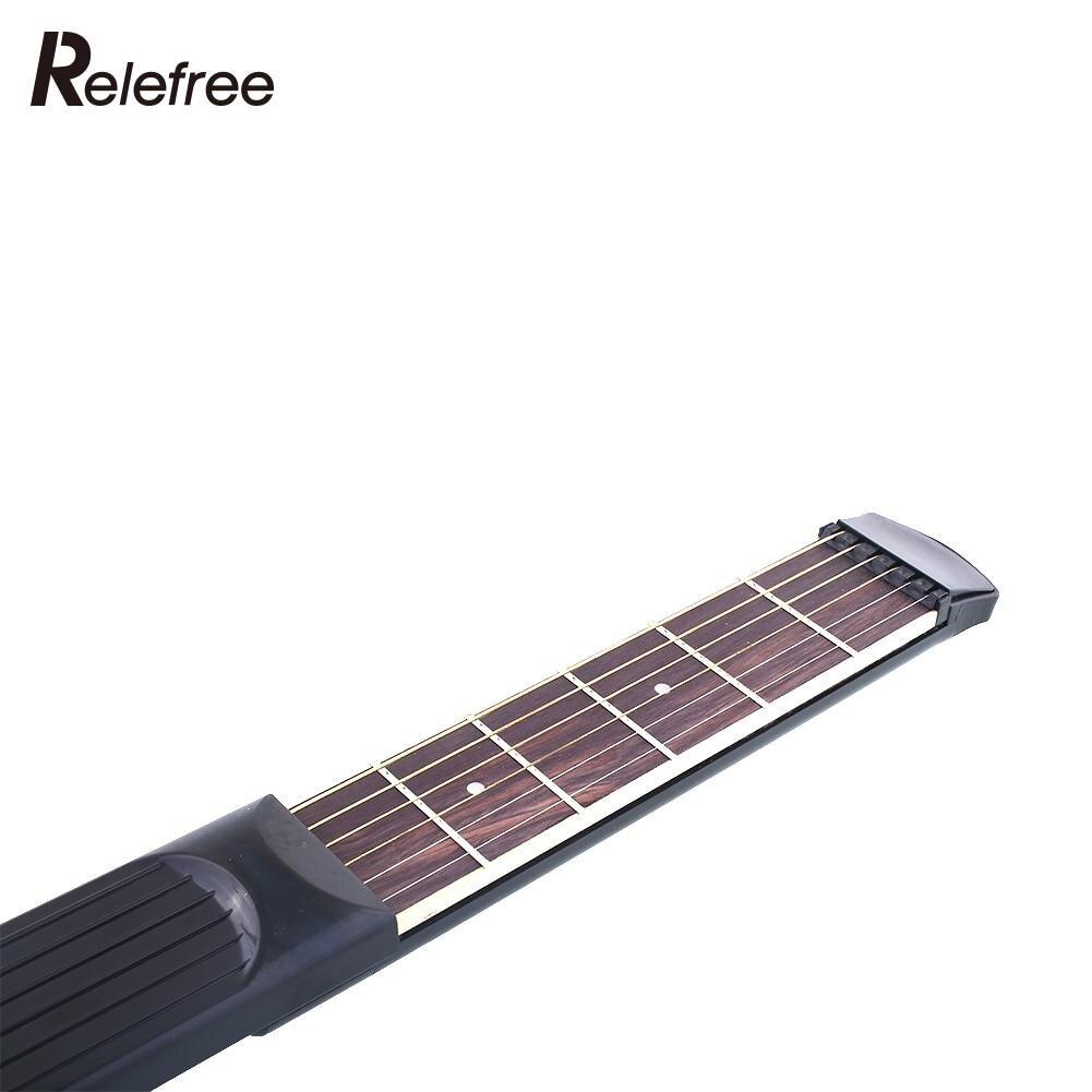 Portable Pocket Guitar Practice Tool Gadget 6 Fret Strings W Bag Allen Key For Beginner Student