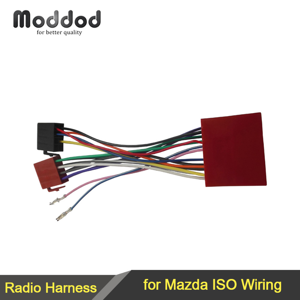 ISO font b Wiring b font Harness Adaptor for Mazda 2001 Stereo Wire Cable Aftermarket font dual xd7500 wiring diagram dolgular com dual xd7500 wiring harness at n-0.co