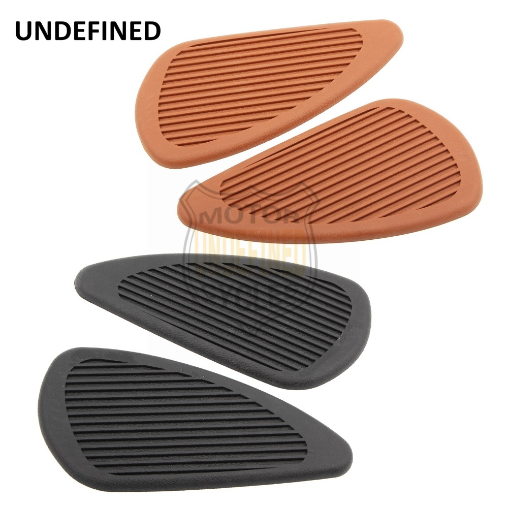 Anti-slip Rubber Motorcycle Sticker Decal Tank Traction Pad Side Knee Grip Protector For Harley Dyan Softail XL883 XL1200 Moto