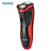 Kemei Washable Wet Dry Electric Shavers Razor Rechargeable Rotary Men S Shaver With 3D Floating Heads