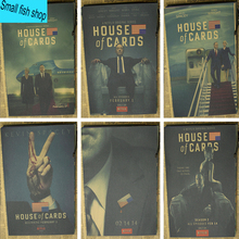 House of Cards USA president American TV Series Home Furnishing decoration Kraft Movie retro Poster Drawing