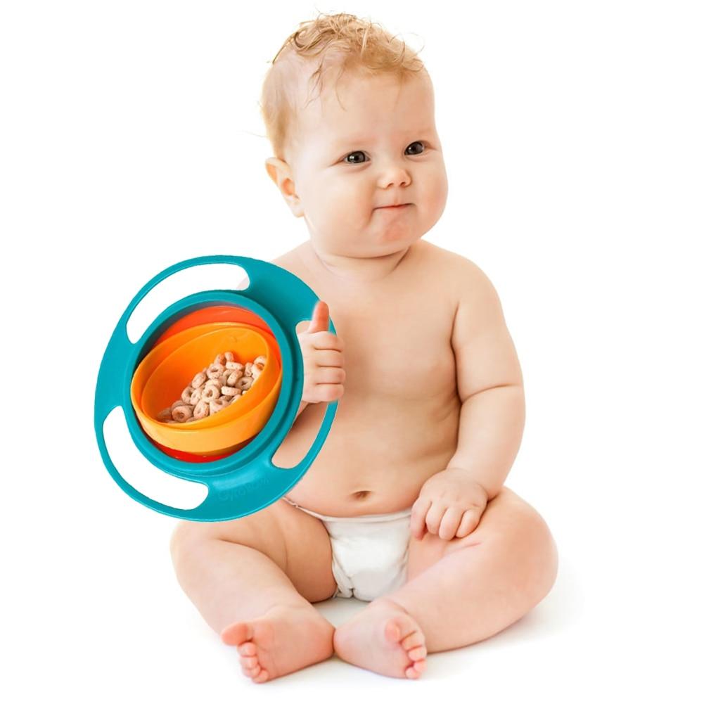360 Rotate Universal Gyro Bowl Practical Design Children Rotary Balance  Bowl Novelty Gyro Umbrella Bowl Spill Proof Bowl 25|Baby Food Storage| -  AliExpress