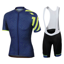 купить New 2019 BLUE Team pro cycling jersey 9D gel Pad bike shorts set men Ropa Ciclismo bicycling Maillot Culotte clothing CSO-14 онлайн