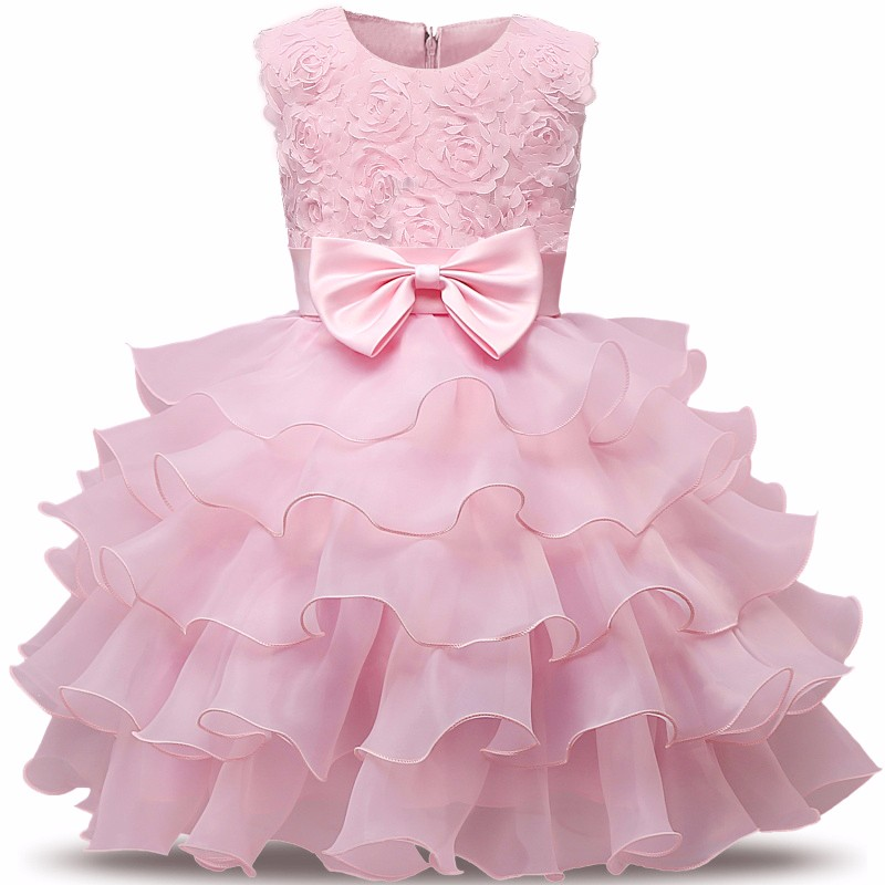 ruthshen new arrival red flower girl dress small girl princess gown with bow elegant in stock fashion for summer wedding party