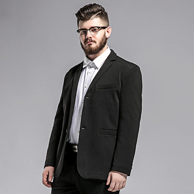 d64a878d5260e Men s casual suit Spring and Autumn new plus fat to increase the Fashion  black Single large Western men s jacket Size M-5XL 6XL