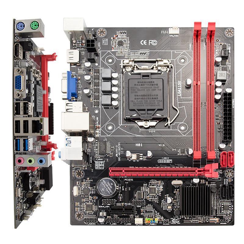 H81 ordinateur de bureau carte mère Socket Lga 1150 broches I3 I5 3470 4590 Cpu Super B85 micro-atx Uefi Bios - 4