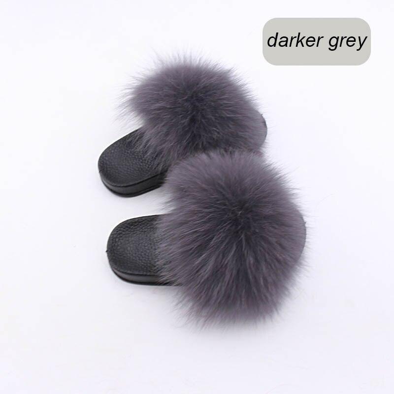 children slippers fox fur (6)