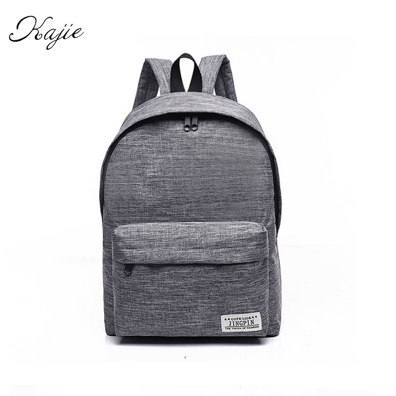Kajie New Canvas Women Backpack College High Middle School Bags For Teenager Laptop Travel Men Back Pack Girls Rucksacks Mochila brand canvas men women backpack college high middle school bags for teenager boy girls laptop travel backpacks mochila rucksacks