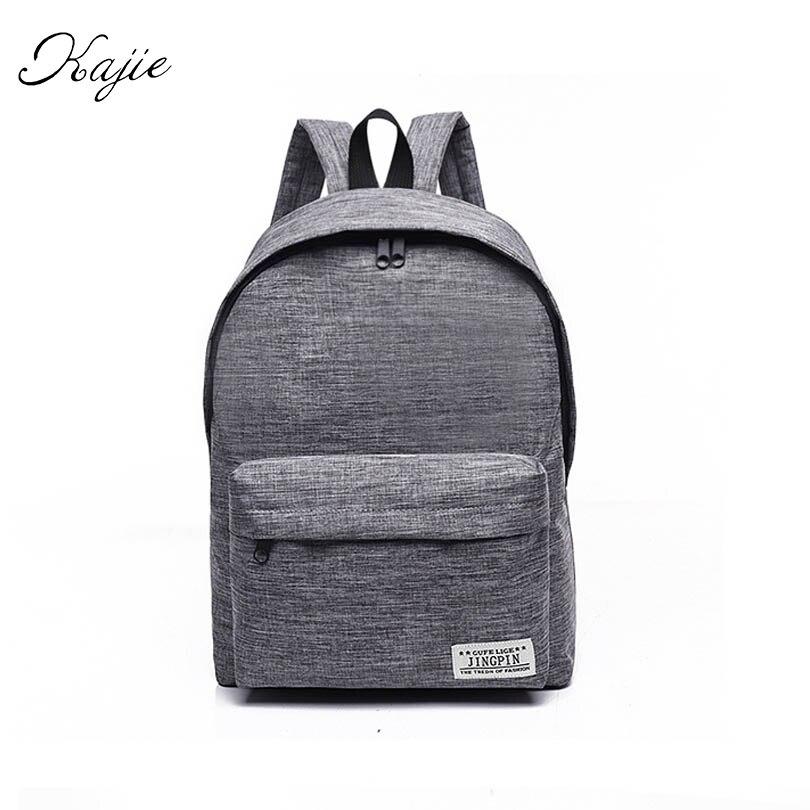 Kajie New Canvas Women Backpack College High Middle School Bags For Teenager Laptop Travel Men Back Pack Girls Rucksacks Mochila