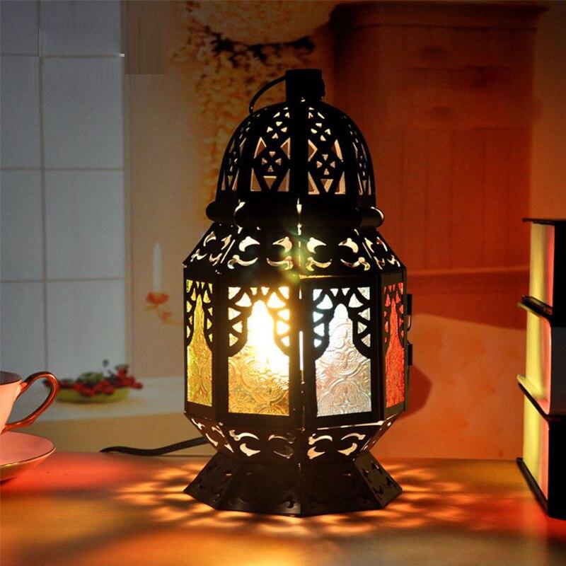 Стеклянная Подвесная лампа с подвеской, в тайском стиле, с цепочкой, для столовой, Южной Азии, балкона, спальни