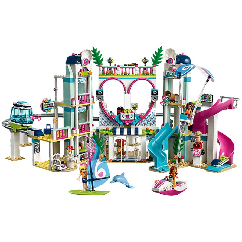 Lepin Friends 01068 Heartlake City Resort Water Amusement Park 1139Pcs Building Blocks Toys for Children Legoings Friend 41347 aldeia das águas park resort day use