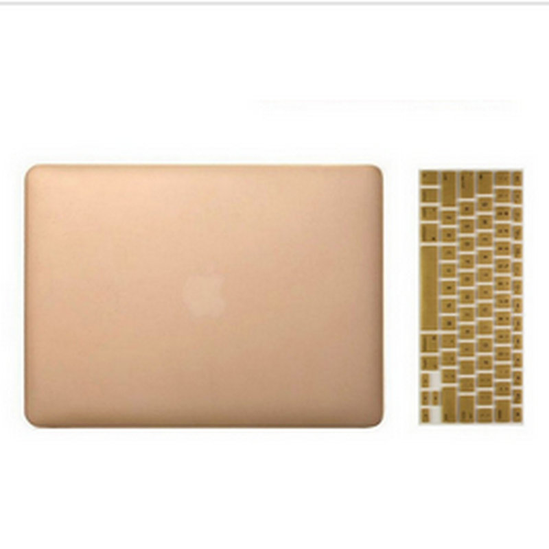 Laptop bag case For Macbook air pro 13 retina case sleeve air 11 Gold Silver Rubberized Ultra Slim Hard+US Keyboard Without logo