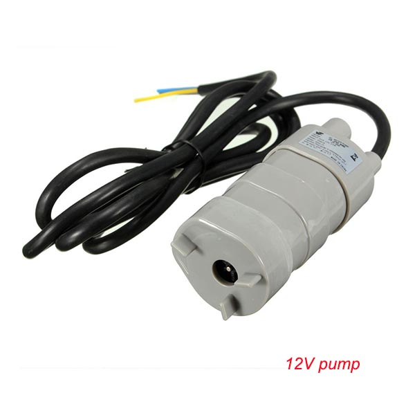 Best Sale 12V 24V 600L/H high pressure Dc Submersible water Pump Three-wire Micro Motor Water Pump with adapter