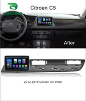 Octa Core Android 8.1 4GB RAM 64GM ROM Car DVD GPS Navigation Player Deckless Car Stereo For Citroen C5 2013 2016 Radio