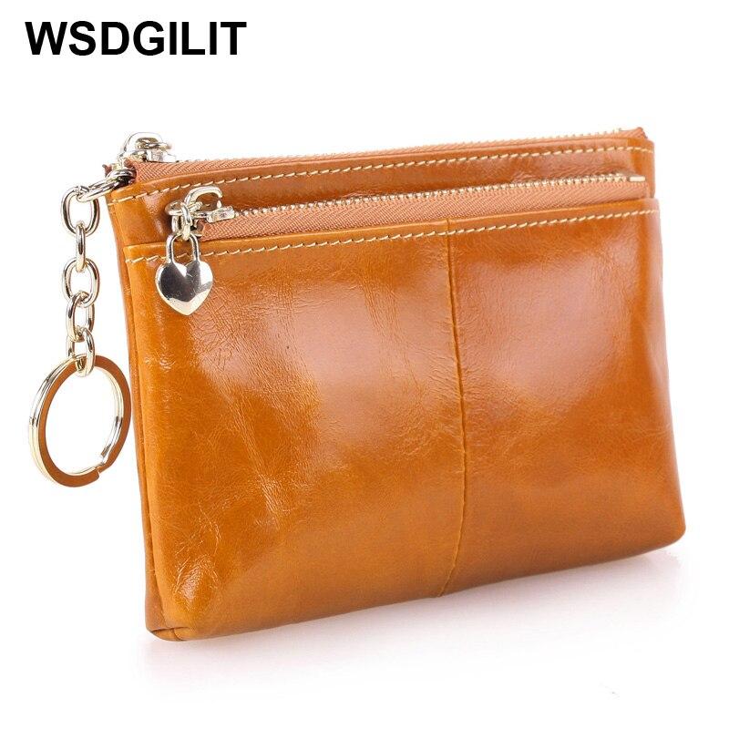 Kožená peněženka s pravou koženou dámskou peněženkovou - Peněženky