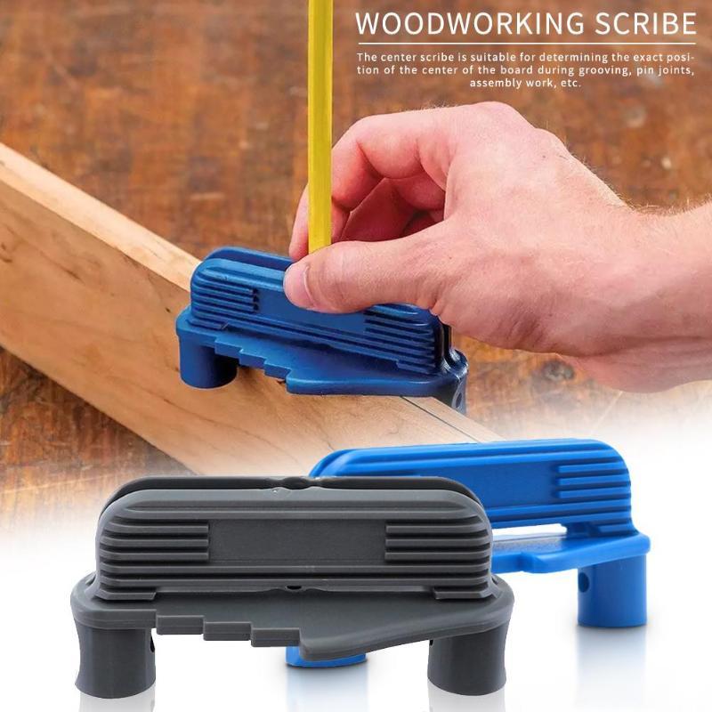 Woodworking Center Finder Line Scriber Center Offset Line Marking Gauge Plastic Center Scribing Gauge Marking Tool