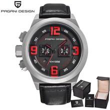 PAGANI DESIGN Brand Sport Military Watches Grand Dial Waterproof Design Chronograph Date Quartz Men's Watch Relogio Masculino