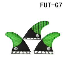 Wakeboard Future G7 Surfboard Fin Fiberglass Honeycomb Fins Carbon Fiber Green in Surfing New Design
