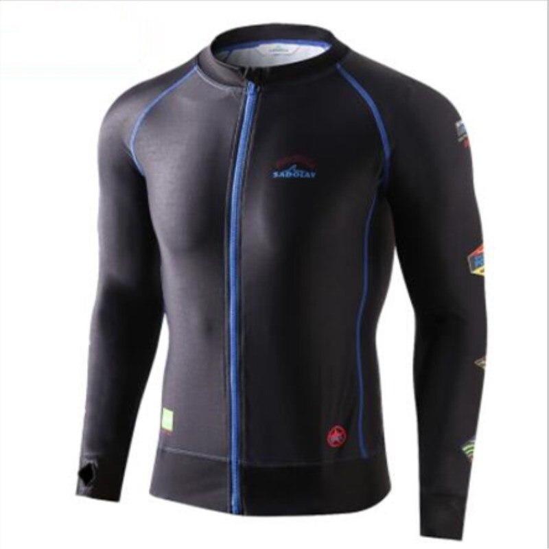 цена на 2018 Men Rash Guard Diving Surf Clothes Swim Wetsuit Quick Drying Sunscreen UV Protection Rashguard Long sleeve Beach Wetsuit